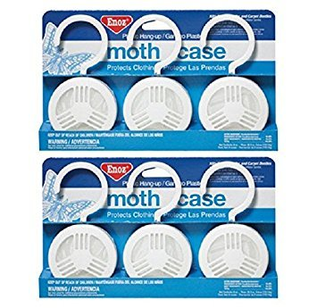 2-Pack of 3 Pieces, Enoz Moth Cake/Hangers (2) 3-Packs, Total 6 Moth Cakes