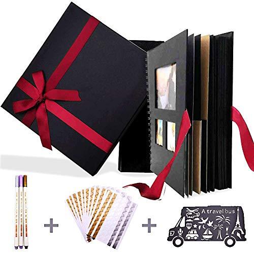 80 Pages DIY Scrapbook Album, Photo Album Scrapbook DIY Handmade Album for Wedding and Anniversary Photo Album Guest Book Travel Memory Scrapbooking Valentines Day Gift 10x10