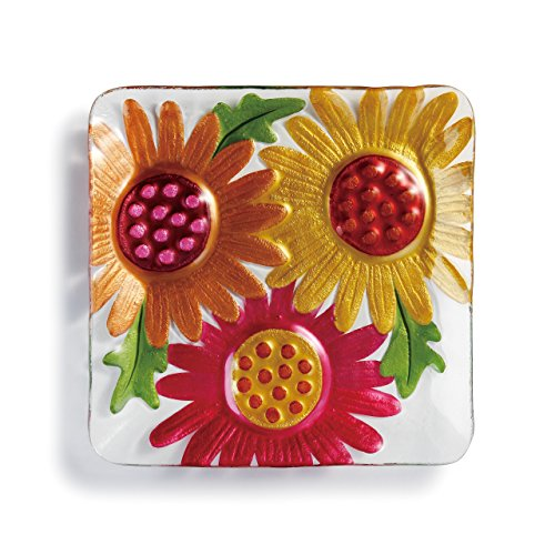 Sq Accent Plate - DEMDACO Gerber Daisies Square Plate-11 sq