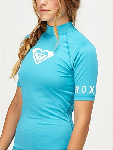 Roxy Whole Hearted Rash Guard Short Sleeve TURQUOISE- New Season! - 2