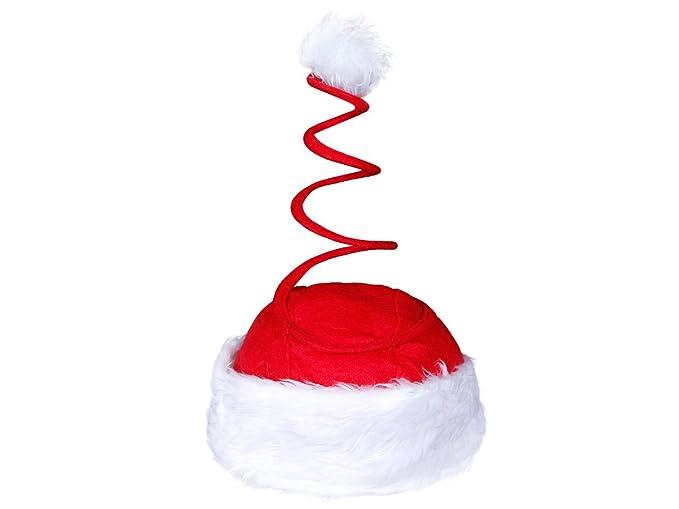 Divertente Cappello da Babbo Natale con Molla Spirale (wm-17) con Pon Pon e  Bordo in Felpa Rosso Bianco per Adulti Uomo Donna  Amazon.it  Abbigliamento 493096fa12ba