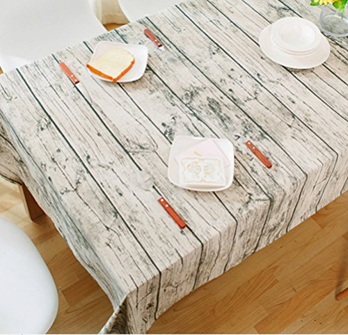 Multi Size Wood Grian Printing Table Cloth Livebycare Cotton Linen Table Cover For Dining Room Kitchen Room And Family Room