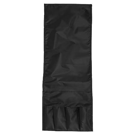 4 Bolsillos Organizador De Almacenamiento Bolsa Colgante Sofá Sofá Sillón Control Remoto Bolsillo De Bolsillo Bolsa Plegable (Color : Negro)