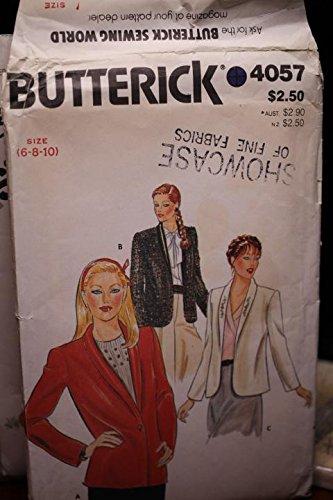 (Vintage Butterick Pattern 4057 Sz 6,8,10 Misses' Jacket UNCUT FF)