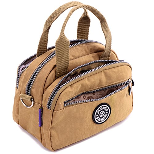 Handbags Purses Casual TianHengYi Shoulder body amp; Lightweight Bag red Small Nylon Cross Girls Multi Claret Pockets PBORwa