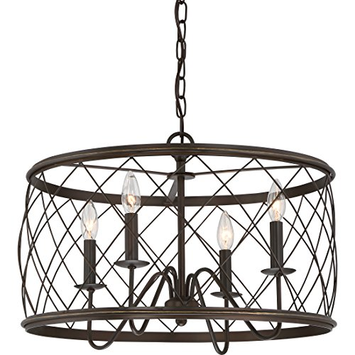 - Quoizel RDY2821PN Dury Cage Pendant Lighting, 4-Light, 240 Watts, Palladian Bronze (15