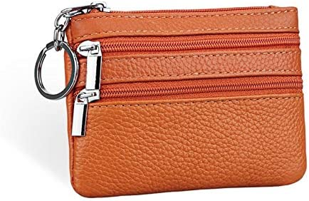 Color: Orange Gimax Coin Purses Leather Purse New 2016 Fashion Designer Womens Key Ring Small Coin Purse Short Zipper Mini Wallet