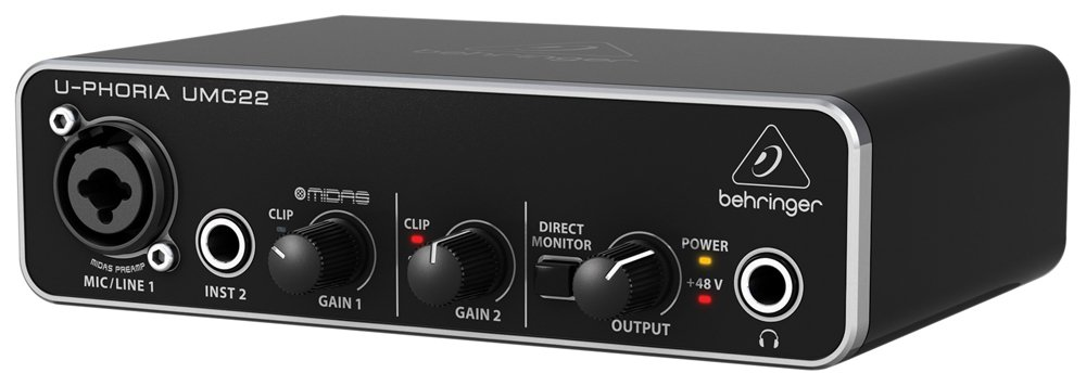 Musical Instruments & Gear Audio/midi Interfaces Special Section Behringer Audio Interface Umc22