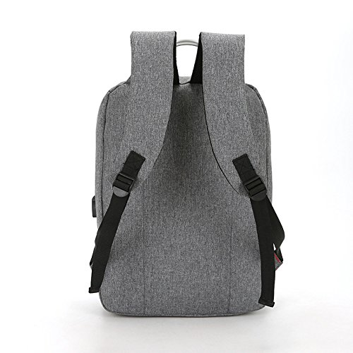 Männer Große Kapazität Rucksäcke USB-Ladegeräte Business Computer Rucksäcke Outdoor Sport Reisetaschen,Blue Grey