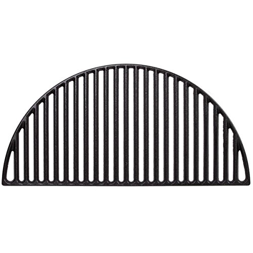Half Moon Cast Iron Grate,BBQ Grill Grate Fire Pit Grate Cast Iron Grate For Big Green Egg XLarge And Kamado Grills (22 (Iron Round Fireplace)