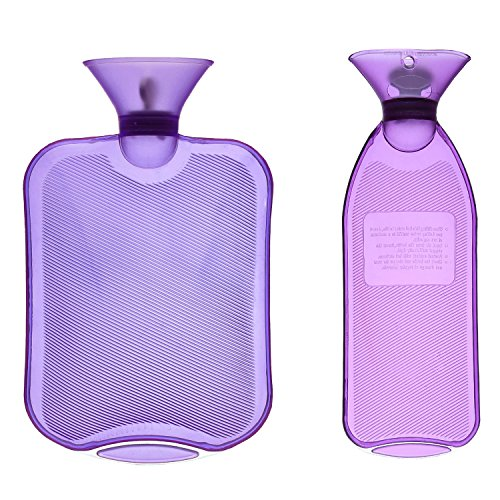 HomeIdeas 2 Pack 2L+1L Thermoplastic Transparent Home & Outdoor Hot Water Bottle, Cold / Hot Therapy For Body(Purple)
