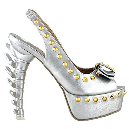 Show Story - Zapatos destalonados mujer Plata - plata