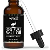 Emu Oil Pure 100% From Lagoon Essentials For Hair, Skin, Face, Nails, Wrinkles, Sunburns, Irritations, Scars, Acne, Stretch Marks, Burn Wounds and More. (2oz / 60ml) Bottle With Dropper + E-Book.