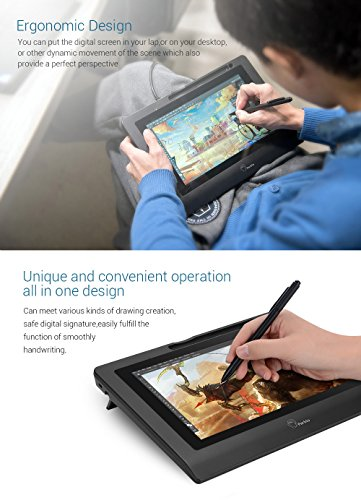 Parblo Coast10 10.1'' Digital Pen Tablet Display Drawing Monitor 10.1 Inch with Cordless and Battery-free Pen+ 4ports USB3.0 Hub+ Glove by Parblo (Image #4)