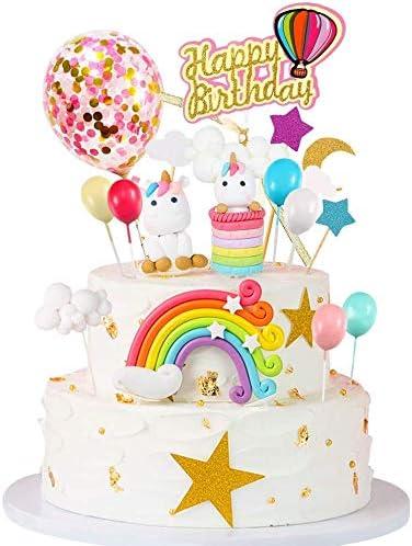 Birthday Cake Cake Topper 3D Doughnut Cake Candles