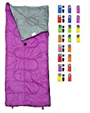 Kyпить RevalCamp Lightweight Violet/Purple Sleeping Bag by Indoor & Outdoor use. Great for Kids, Youth & Adults. Ultralight and compact bags are perfect for hiking, backpacking, camping & travel. на Amazon.com