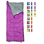 Lightweight Violet Purple Sleeping Bag By RevalCamp Indoor Outdoor Use Great For Kids Youth Adults Ultralight And Compact Bags Are Perfect For Hiking Backpacking Camping Travel