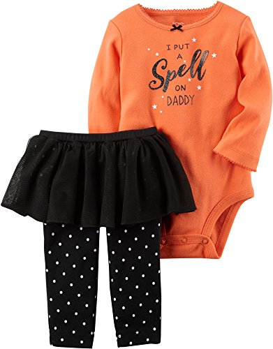 Baby Girl Halloween Outfits (Carter's Baby Girls' 2 Piece Bodysuit And Tutu Pants Set 12 Months)