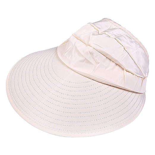 b8d2d451363 Summer Women s Outdoor Beach Sunscreen Cap UV Protection Caps Sun Visor Hat