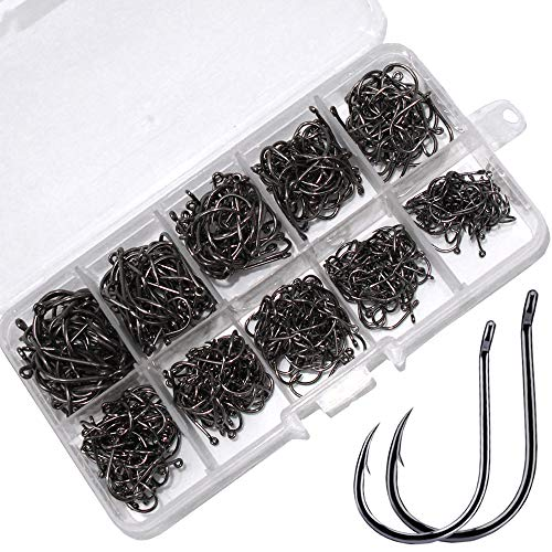 Drasry Fishing Hooks Set High Carbon Steel Jig Bait Sharp Fish Hook for Saltwater Freshwater (500Pcs Small Hook) - Fish Hook Bait