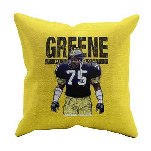 500 LEVEL Mean Joe Greene Pittsburgh Football Throw Pillow - 20
