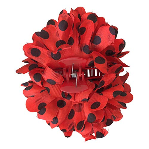 Flamenco Hair Flower Spanish Hair Clip Flamenco red Black dots