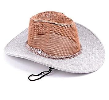 ZXR/Liang Mao/sombrero de cowboy/exterior en verano Caballero Gorras /Sombreros/Gorra De Malla (, gris: Amazon.es: Deportes y aire libre