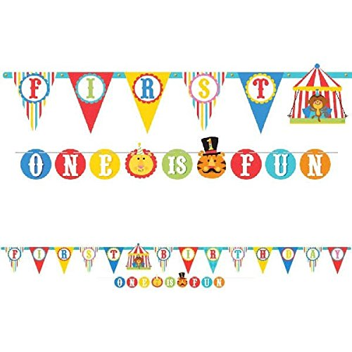 Tv Themed Halloween Costume Ideas (Amscan Fisher-Price 1St Birthday Party Circus Theme Illustrated Letter Banner (2 Piece), Multicolor, Size 1)