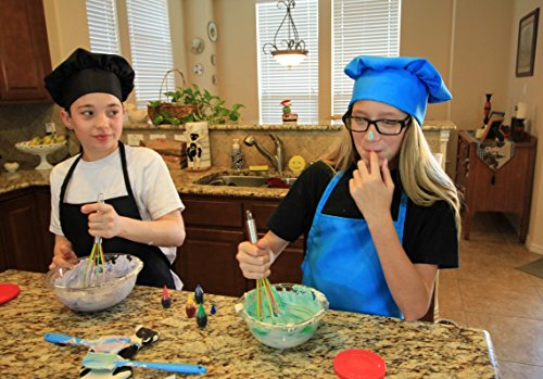 Kids Apron and Chef Hat Set. Adjustable Hat. Fits Childs Size Medium 6-12. (Lt. Pink) - Free eBook by Chefocity (Image #4)