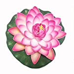 Emmix-Artificial-Water-Lilies-Foam-Floating-Lotus-Flower-for-Pool-Decoration-and-Pond-Decoration-7-Set-of-4–Pink