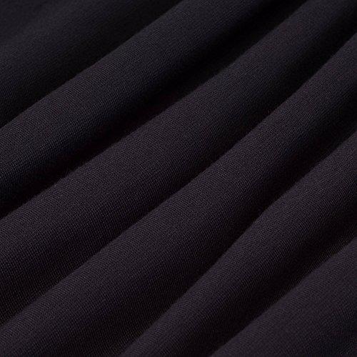 4 Casual Manches Dress Bodycon Business de Bleu Bloc 3 HOMEYEE B411 Longueur au Genou Femmes Couleur S1vaxa