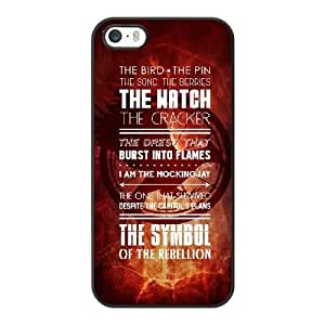 Grouden R Create and Design Phone Case, The Hunger Games Catching Fire Cell Phone Case for iPhone 5 5S SE Black + Tempered Glass Screen Protector (Free) LPC-8031623