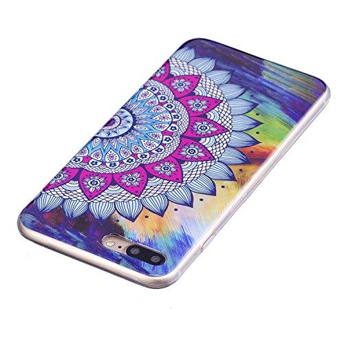 Custodia per iPhone 7 Plus (2016) / iPhone 8 Plus (2017) Cover ,ZXLZKQ rosa Datura Alta qualità Morbido TPU Silicone Coperchio Cover Protezione Custodia Soft Shell Skin Case per iPhone 7 Plus (2016) /