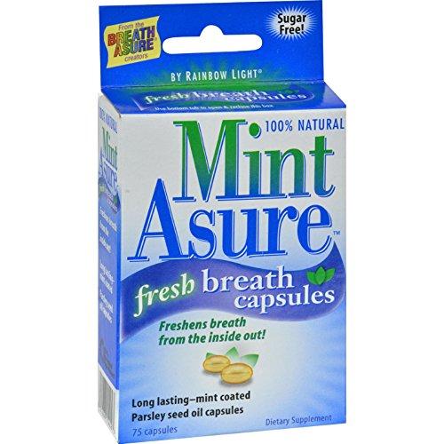 Rainbow Light Fresh Breath Capsules - 100 Percent Natural - Mint Asure - 75 (Rainbow Light Mint)