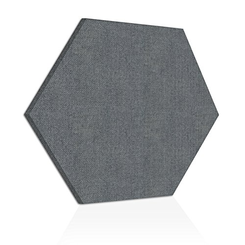 """ADW Acoustic Panels 24"""" X 24"""" X 2"""" Hexagon – Quick Easy DIY Install – See Our Many Color Choices"""