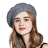 ENJOYFUR Berets,French Solid Color Beret Hats,Stretchable Artist Hat,Lightweight Classic Wool Beret for Women