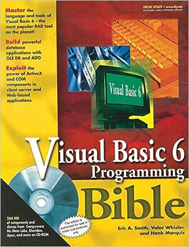 VISUAL BASIC 6 PROGRAMMING BIBLE EBOOK DOWNLOAD | More Pdf