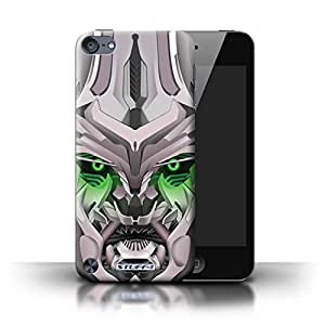 KOBALT? Protective Hard Back Phone Case / Cover for Apple iPod Touch 5 | Mega-Bot Green Design | Robots Collection