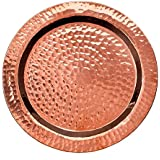 "Sertodo Round Napa Bottle Coaster, Hammered Copper, 5.5"""