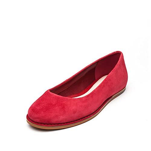 aa05372173e Clarks Women s Glitter Jewel Red Ballet Flats - 8 UK  Buy Online at Low  Prices in India - Amazon.in