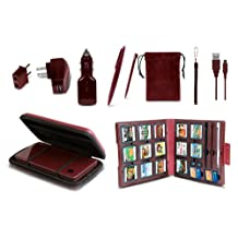 11 in 1 Starter Kit for DSi XL - Wine Red - Nintendo DS Standard Edition