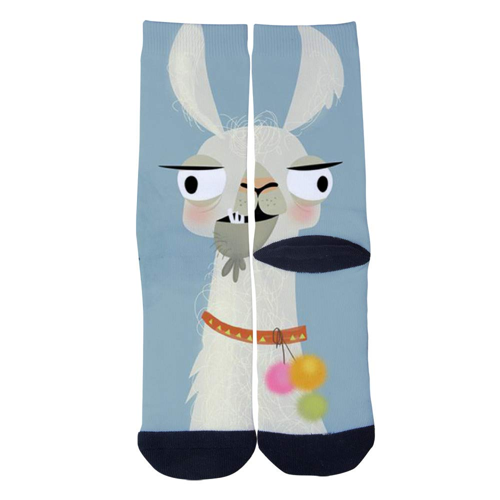 TheFun-Z Custom Funny Llama Socks Novelty Funny Cartoon Crew Socks Elite Casual Socks