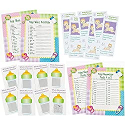 96 pc Baby Shower Game bundle for 24 Guests