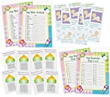 96 pc Baby Shower Game bundle (Word scramble, Baby Necessities,...