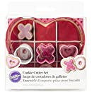 Wilton 2308-0216 4-Piece Kisses and Hugs Heart Cookie Cutter, Assorted