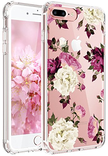 iPhone 7/8 Plus – Purple White Flowers Case