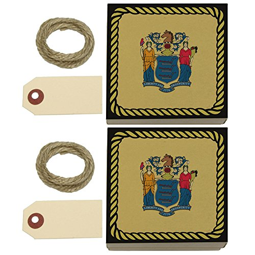 New Jersey State Flag Kraft Gift Boxes Set of 2