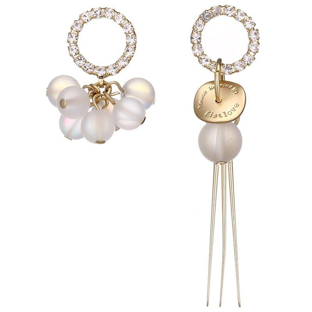OnairMall First Love Earrings Jewelry Filled Pearl Long Short Line Style Cuff Earrings Women Girls Everyday Best Gift