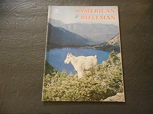 His Domain - American Rifleman Mar 1969 White Mountain Goat Surveying His Domain