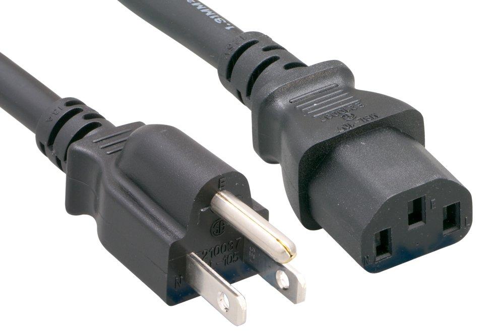 Cablelera North American Standard Power Cord, NEMA5-15P to IEC320 C13, 15', 16AWG, 10A 125V (ZWACPCAJ-15)